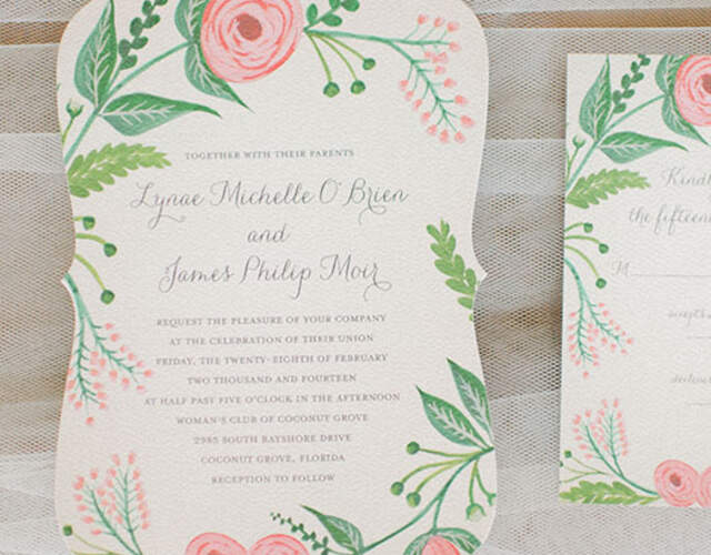 Wedding Invitations and Stationery in New South Wales
